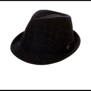 Goorin Bros. Navy Wool Fedora Hat Medium